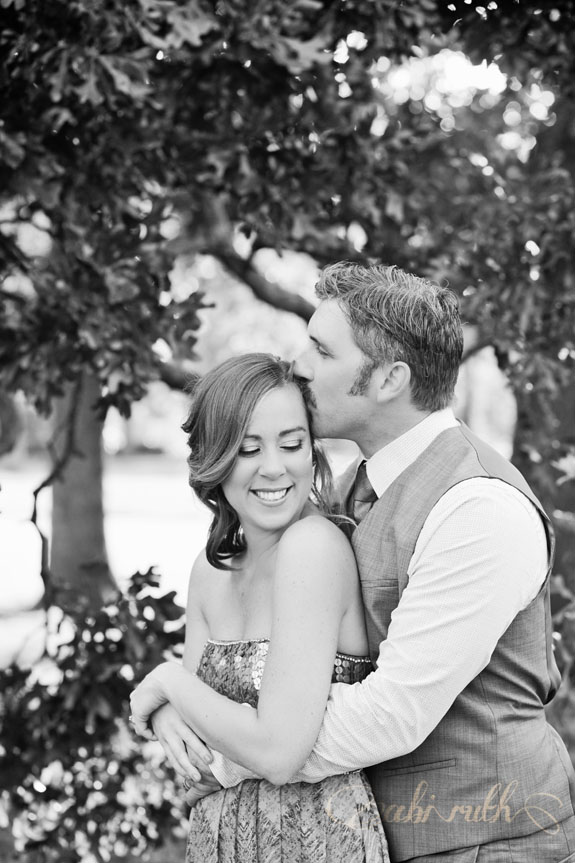 laughing kissing couple