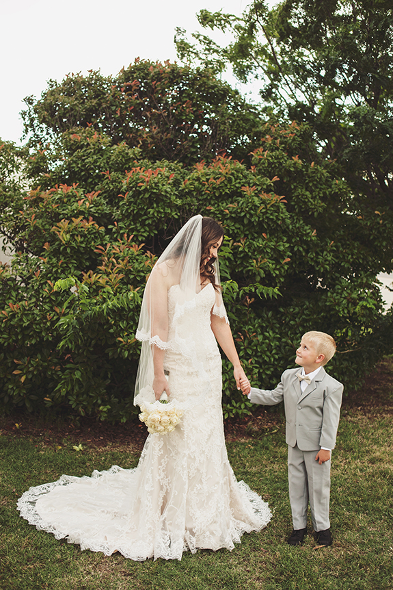 127 bride with ring bearer nephew